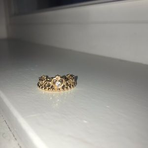 Rose gold pandora princess ring